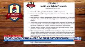COVID-19 concerns as students return to the classroom in St. Johns County