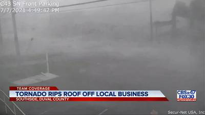 Tornado rips roof off 51-year-old family-owned business on Jacksonville's Southside