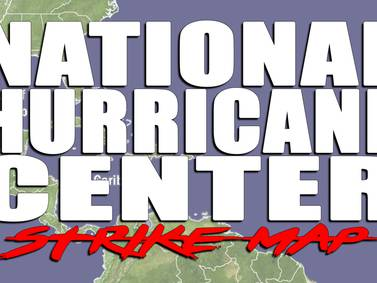 The National Hurricane Center Strike Map