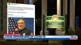 Neptune Beach Police Dept. mourns officer who died from COVID-19 complications