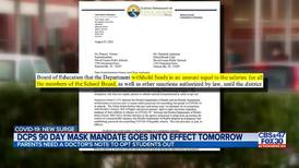 DCPS mask mandate goes into effect Tuesday