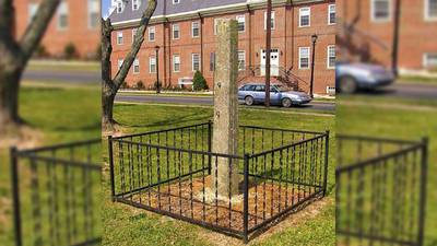 Delaware takes down the state's last whipping post displayed on state grounds
