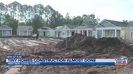 Volunteers build furniture for future tiny house community on Jacksonville's westside