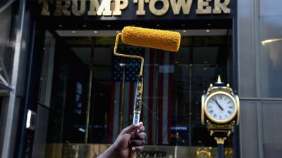 Work begins on NYC 'Black Lives Matter' mural in front of Trump Tower
