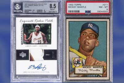 LeBron James rookie, 1952 Topps Mickey Mantle cards top $2M each in auction