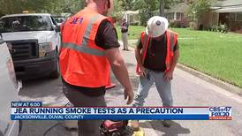 JEA uses smoke to test for problems